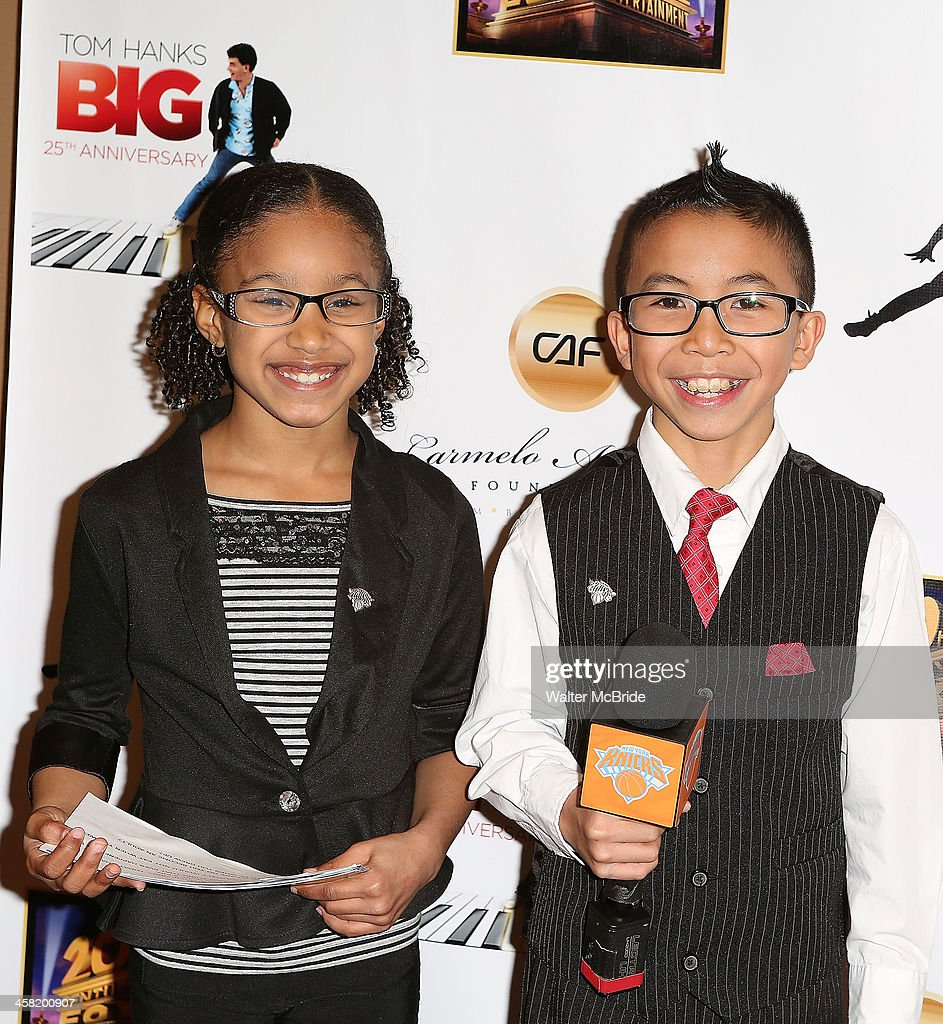Young Knicks Journalists attend the 'Big' 25th Anniversary Edition Blu-ray Release special screening benefiting the Carmelo Anthony Foundation at AMC Empire on December 20, 2013 in New York City.