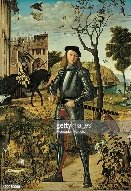 Young Knight by Vittore Carpaccio 16th Century oil on canvas 218 x 151 cm
