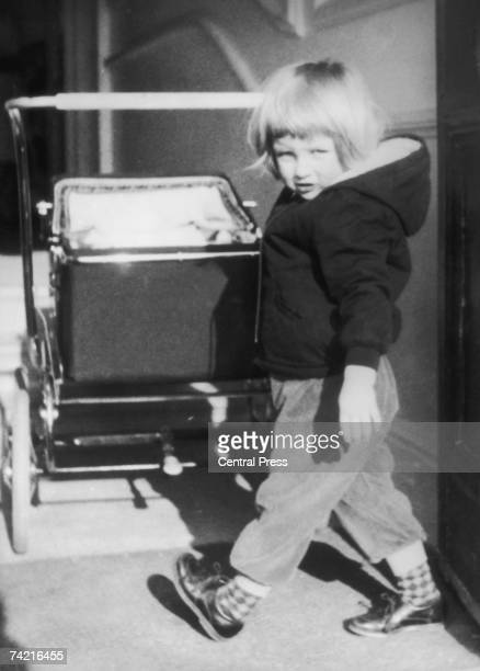 A young Lady Diana Spencer with a pram at Park House Sandringham in Norfolk 1964
