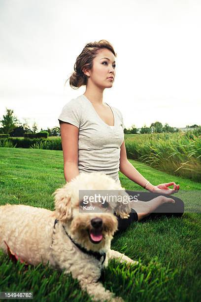 Young Lady Doing Yoga in Nature