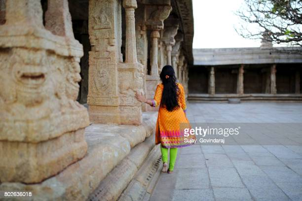 Young Lady Spending Time in a Historical Place