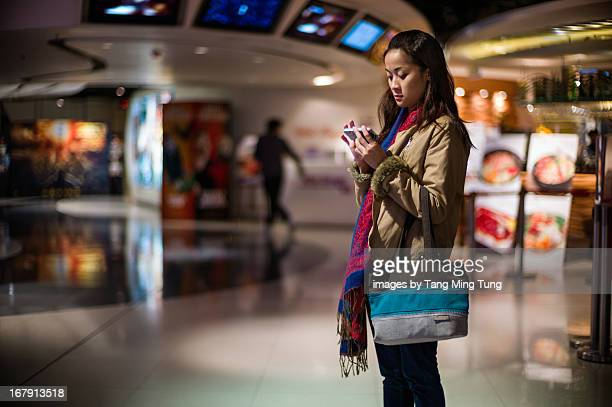 Young lady using a smartphone