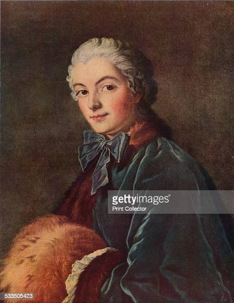 Young Lady with a Muff c1750 Painting housed in the Louvre Paris From WorldFamous Paintings edited by J Greig Pirie [W G Foyle Ltd London 1938]