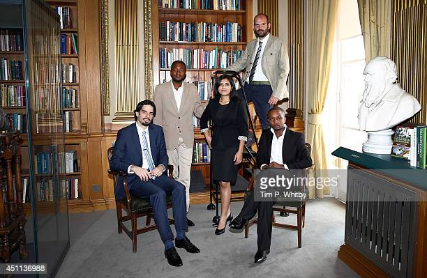 Young Laureates Hosam Zowawi from Saudi Arabia Arthur Zang from Cameroon Neeti Kailas from India Francesco Sauro from Italy and Olivier Nsengimana...