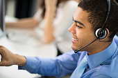 young male call centre rep