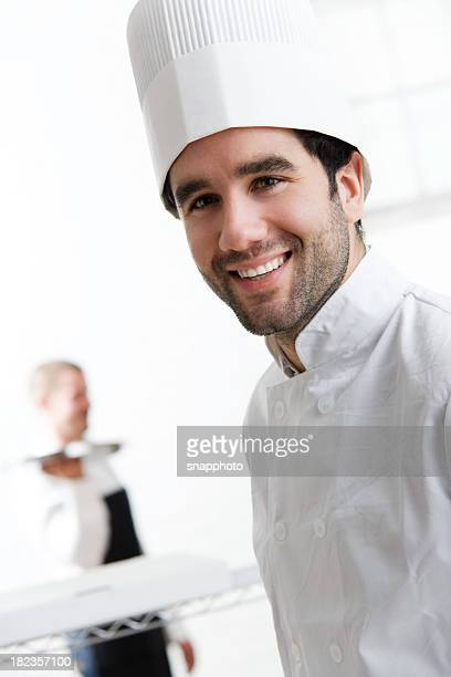 Young Male Chef in Commercial Kitchen