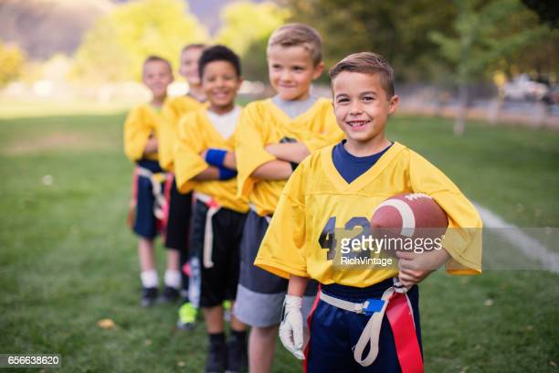 Young Male Flag Football Team