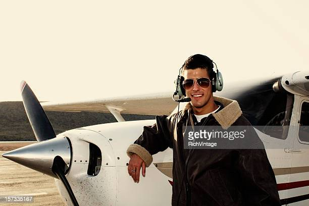 Giovane maschio pilota
