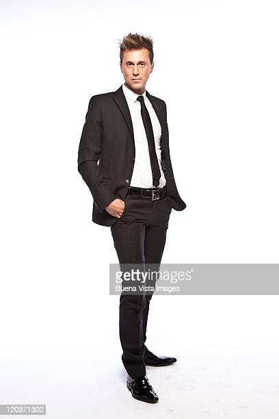 Young man agains white background