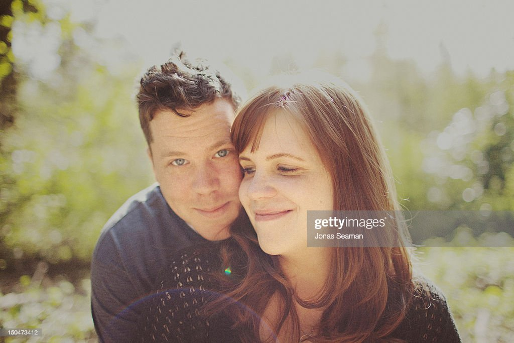 Young man and woman in love. : Stock Photo