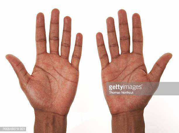 Young man, close-up of hands
