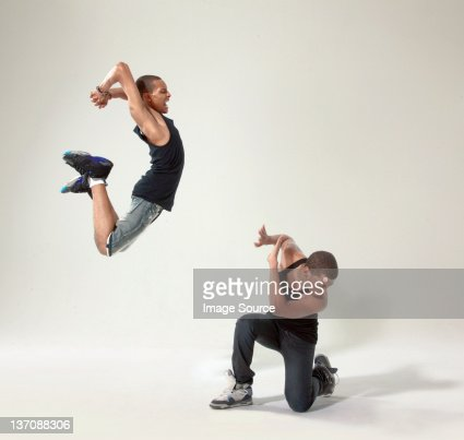 Young man defending himself against rival
