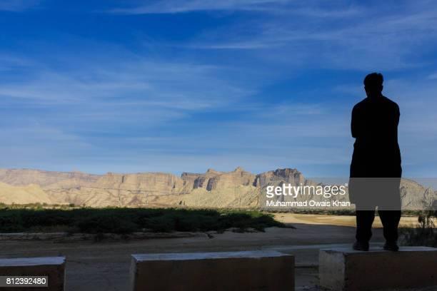 Young Man Enjoying the Mountain View