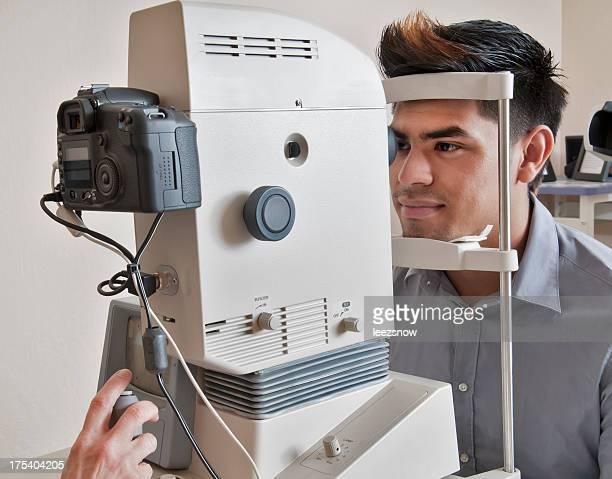 Young Man Getting Eye Exam
