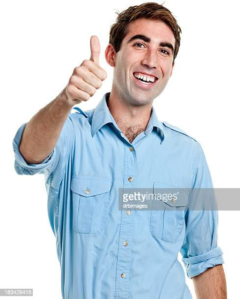 Young Man Gives Thumbs Up
