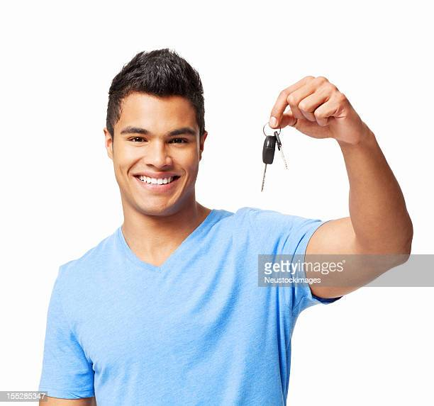 Young Man Holding Car Keys