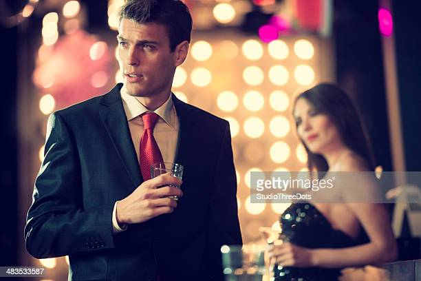 young man in a night club