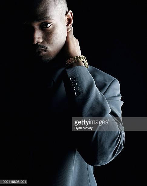 Young man in business suit, portrait