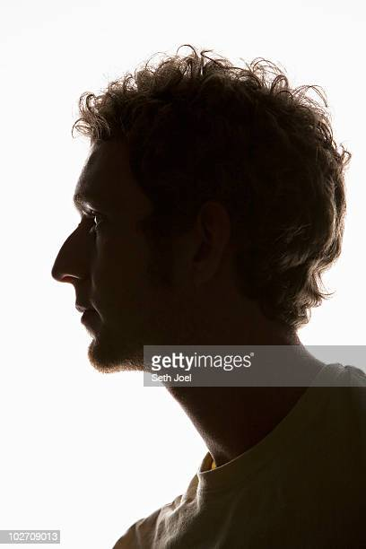 Young man in profile