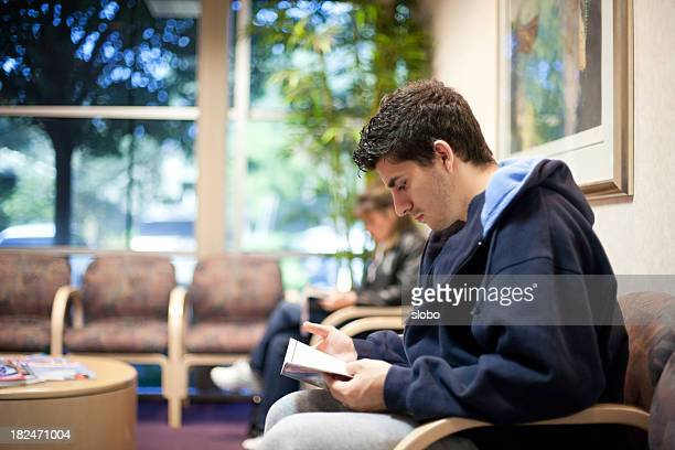 Young Man in Waiting Room