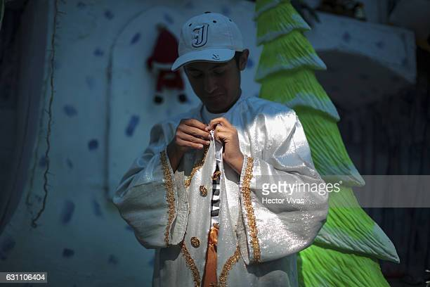 A young man is dressed as Wise Man during the Three Wise Man celebration on January 06 2017 in Mexico City Mexico The Three Wise Man day also known...