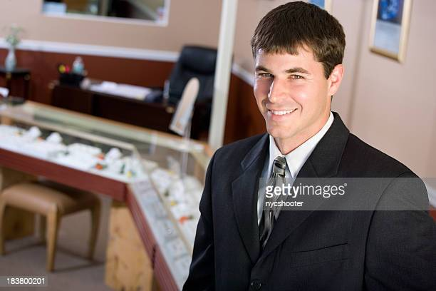 Young man Jewelry store owner