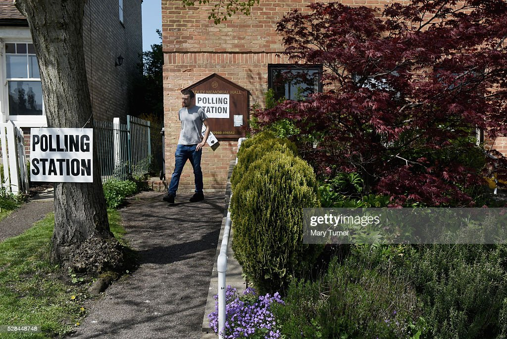 A young man leaves a polling station in Chipping Barnet, North London after being unable to vote due to registration problems on May 5th 2015 in London, United Kingdom. A large number of people have been unable to vote in Chipping Barnet, North London due to registration problems at polling stations across the borough. Today, dubbed 'Super Thursday', sees the British public vote in countrywide elections to choose members for the Scottish Parliament, the Welsh Assembly, the Northern Ireland Assembly, Local Councils, a new London Mayor and Police and Crime Commissioners. There are around 45 million registered voters in the UK and polling stations open from 7am until 10pm.