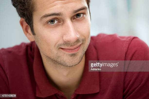 Young man looking at camera