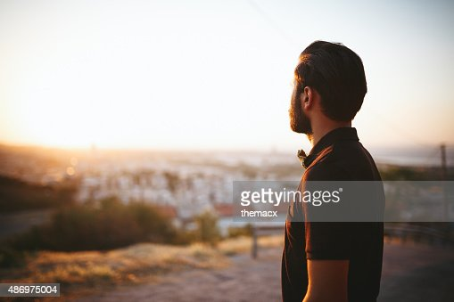 Young man looking away