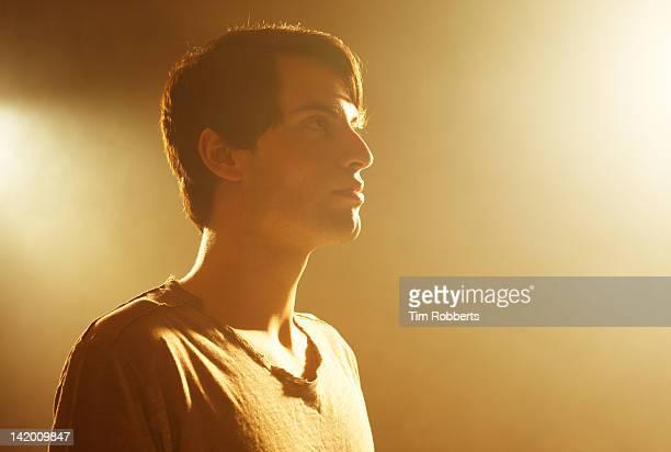 Young man looking forward