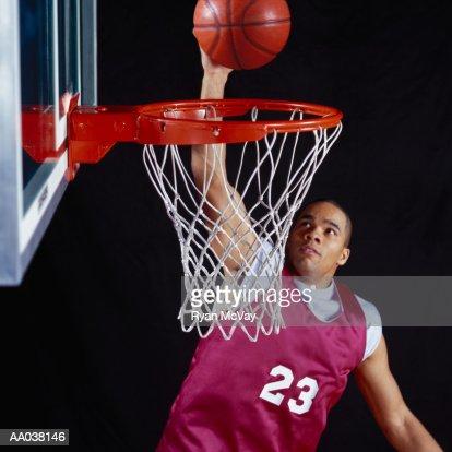 Young Man Making a Basket