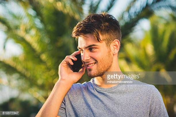 Young man on a mobile phone