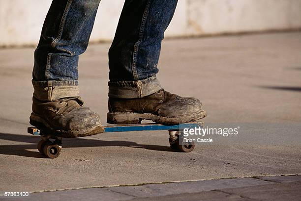 Young man on skateboard