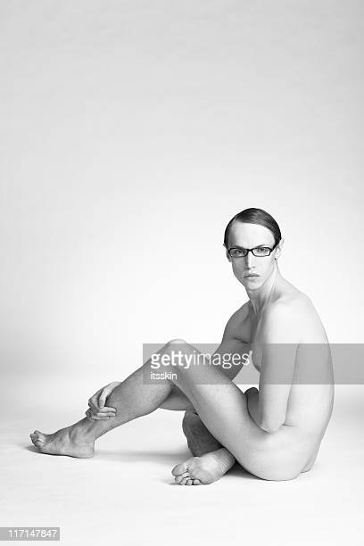 Young man on white