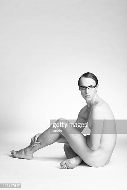 Nackte männliche figur modell