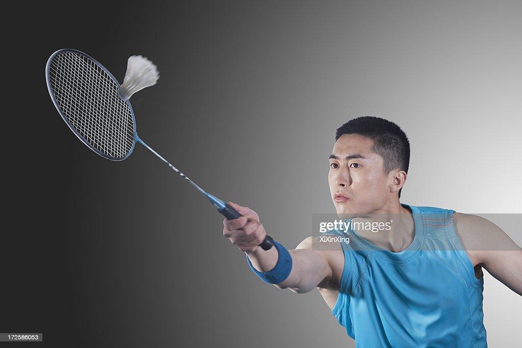 Hoher Aufschlag Badminton