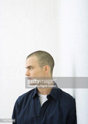 Young man, profile, portrait