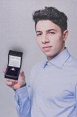 Young man proposing