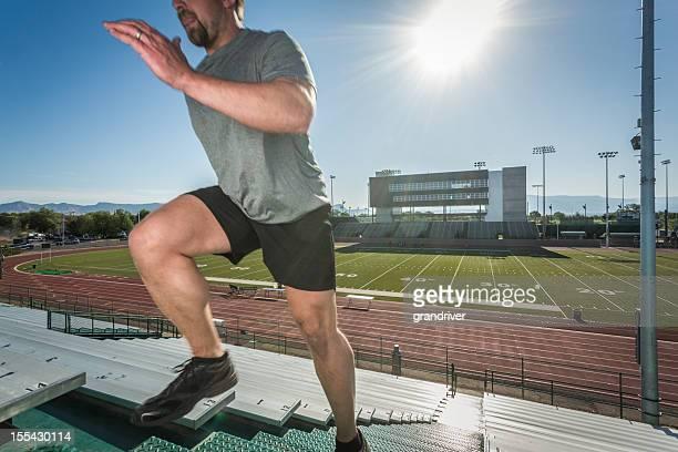 Young Man Running Stairlaps