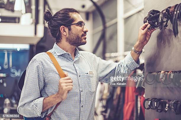 Young man shopping in a fancy shopping mall