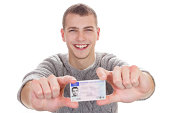 16 to 18 year old boy just received his driver license
