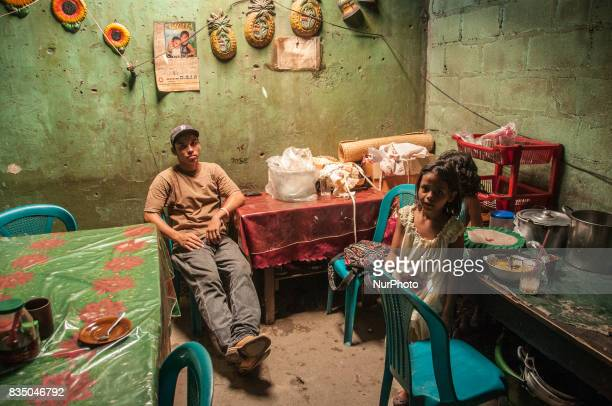A young man sits in a restaurant in Ocotal Nicaragua on 2 October 2011