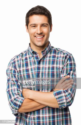 Young Man Smiling - Isolated