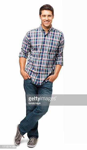 Young Man Standing With Hands In Pockets - Isolated