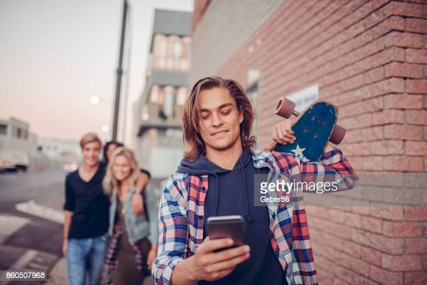 Young man using a phone