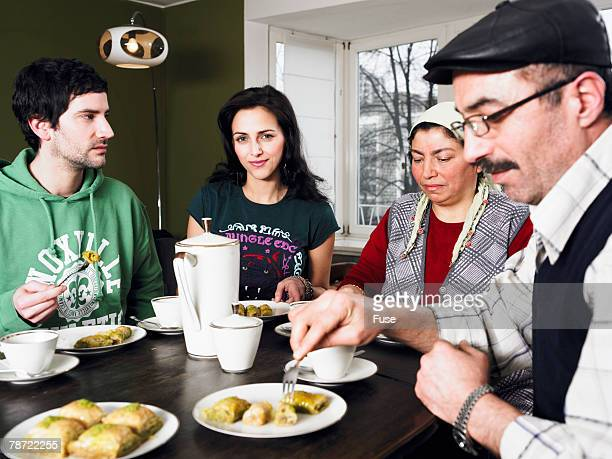 Young Man Visiting His Girlfriend's Turkish Family