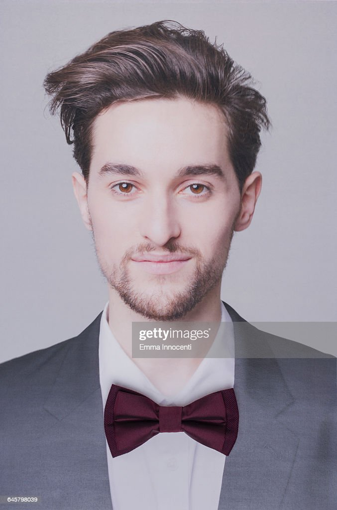 Young man wearing a bow tie