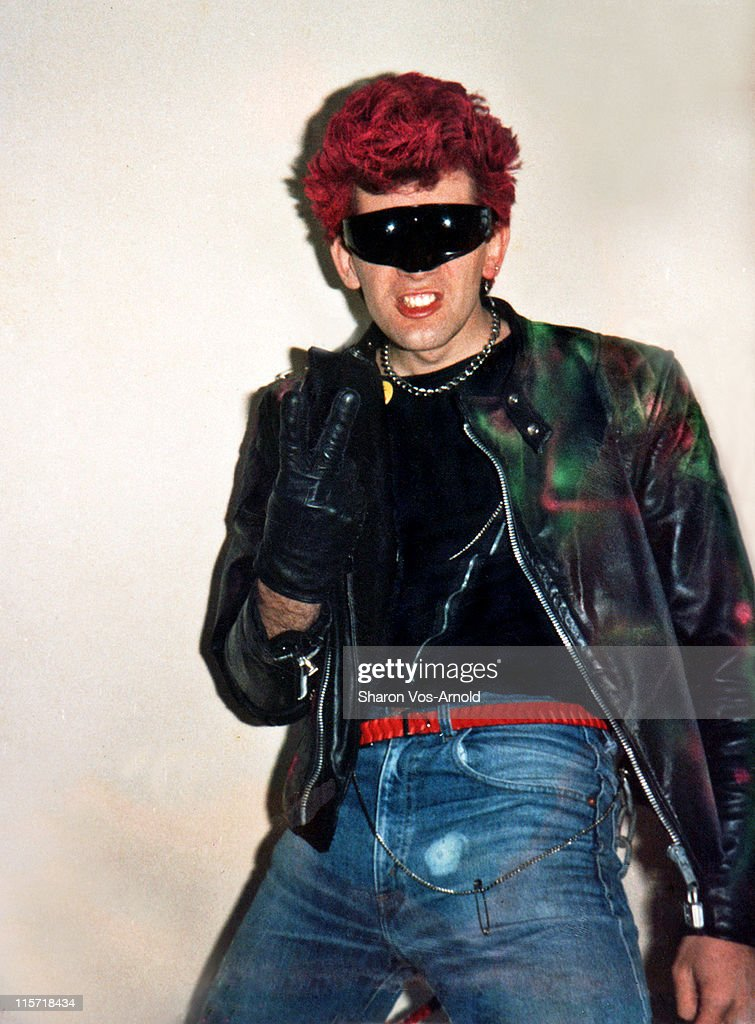 Young man when Punk Rock was in its heyday. : Stock Photo