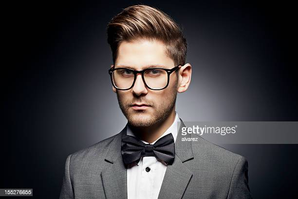 Young man with a  bow tie