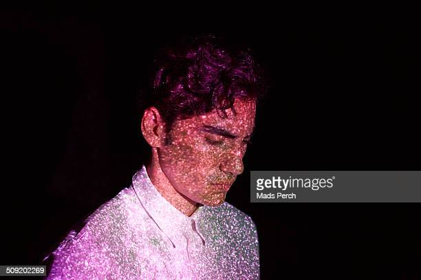 Young Man with Abstract Lights